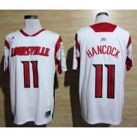Cardinals #11 Luke Hancock White Basketball Stitched NCAA Jersey