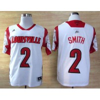 Cardinals #2 Russ Smith White Basketball Stitched NCAA Jersey