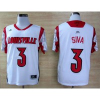 Cardinals #3 Peyton Siva White Basketball Stitched NCAA Jersey