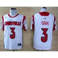 Cardinals #3 Peyton Siva White Basketball Stitched NCAA Jersey