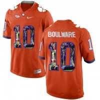 Clemson Tigers #10 Ben Boulware Orange With Portrait Print College Football Jersey7