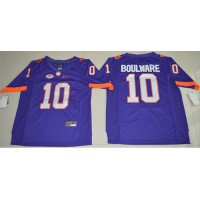 Clemson Tigers #10 Ben Boulware Purple Limited Stitched NCAA Jersey