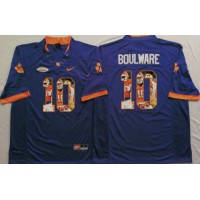 Clemson Tigers #10 Ben Boulware Purple Player Fashion Stitched NCAA Jersey