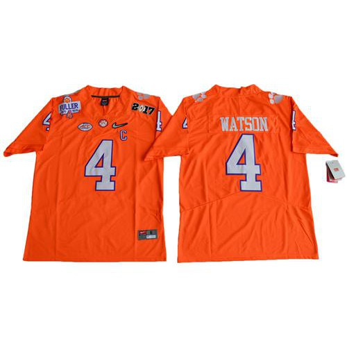 59c578a3d Clemson Tigers #4 Deshaun Watson Orange Diamond Quest Limited Stitched NCAA  Jersey