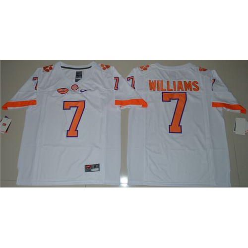 innovative design 3fd9f 303bb Clemson Tigers #7 Mike Williams White Limited Stitched NCAA ...