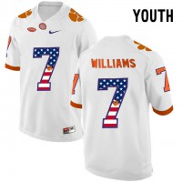 Clemson Tigers #7 Mike Williams White USA Flag Youth College Football Jersey