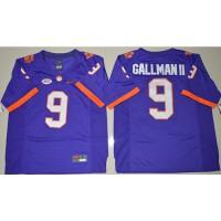 Clemson Tigers #9 Wayne Gallman II Purple Limited Stitched NCAA Jersey