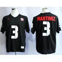 Cornhuskers #3 Taylor Martinez Black New Big 10 Stitched NCAA Jersey