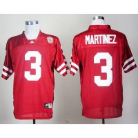 Cornhuskers #3 Taylor Martinez Red Stitched NCAA Jersey