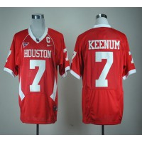Cougars #7 Case Keenum Red C-USA Patch Stitched NCAA Jersey