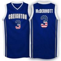 Creighton Bluejays #3 Doug McDermott Navy USA Flag College Basketball Jersey
