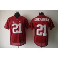 Crimson Tide #21 Dre Kirkpatrick Red Stitched NCAA Jersey