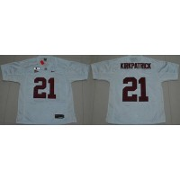 Crimson Tide #21 Dre Kirkpatrick White 2016 College Football Playoff National Championship Patch Stitched NCAA Jersey