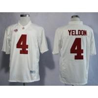 Crimson Tide #4 T.J Yeldon White Limited Stitched NCAA Jersey
