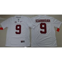 Crimson Tide #9 Bo Scarbrough White Limited Stitched NCAA Jersey