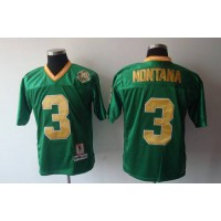 Dame #3 Joe Montana Green With 30TH Patch Stitched NCAA Jersey