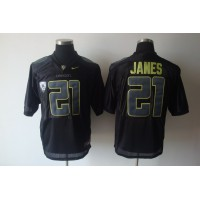 Ducks #21 LaMichael James Black Stitched NCAA Jersey