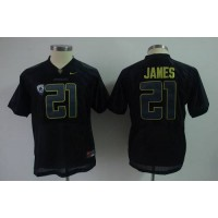 Ducks #21 LaMichael James Black Stitched Youth NCAA Jersey