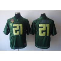 Ducks #21 LaMichael James Green Stitched NCAA Jersey