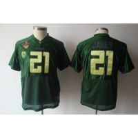 Ducks #21 LaMichael James Green Stitched Youth NCAA Jersey