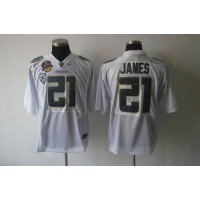 Ducks #21 LaMichael James White Stitched NCAA Jersey