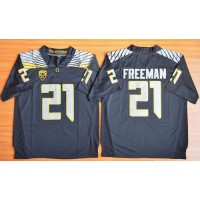 Ducks #21 Royce Freeman Black Limited Stitched NCAA Jersey