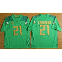 Ducks #21 Royce Freeman Green Limited Stitched NCAA Jersey