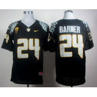 Ducks #24 Kenjon Barner Black Elite PAC-12 Patch Stitched NCAA Jersey