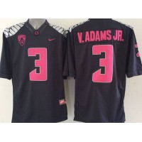 Ducks #3 Vernon Adams Jr. Olive Black Limited Stitched NCAA Jersey