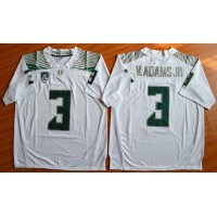Ducks #3 Vernon Adams Jr. Olive White Stitched NCAA Jersey