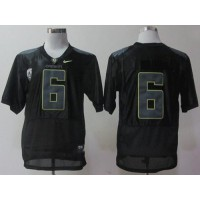 Ducks #6 Charles Nelson Black Combat Stitched NCAA Jersey
