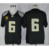 Ducks #6 Charles Nelson Black Limited Stitched NCAA Jersey