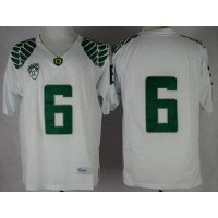 Ducks #6 Charles Nelson White Limited Stitched NCAA Jersey