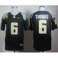 Ducks #6 De'Anthony Thomas Black Elite PAC-12 Patch Stitched NCAA Jersey