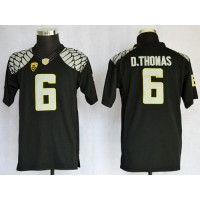 Ducks #6 De'Anthony Thomas Black Limited Stitched Youth NCAA Jersey