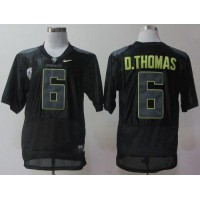 Ducks #6 De'Anthony Thomas Black Pro Combat Pac-12 Stitched NCAA Jersey