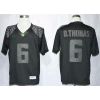 Ducks #6 De'Anthony Thomas Blackout Limited Stitched NCAA Jersey