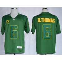 Ducks #6 De'Anthony Thomas Dark Green Limited Stitched NCAA Jersey