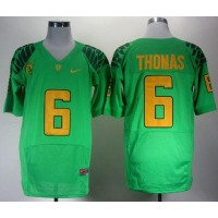 Ducks #6 De'Anthony Thomas Green Elite PAC-12 Patch Stitched NCAA Jersey