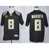 Ducks #8 Marcus Mariota Black Limited Stitched NCAA Jersey