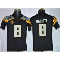 Ducks #8 Marcus Mariota Black Mach Speed Limited Stitched Youth NCAA Jersey