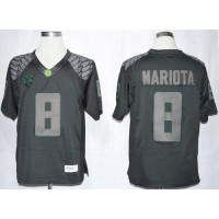 Ducks #8 Marcus Mariota Blackout Limited Stitched NCAA Jersey
