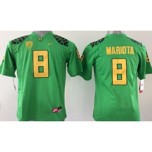 online retailer 306b2 783d6 Ducks #8 Marcus Mariota Green Stitched Youth NCAA Jersey