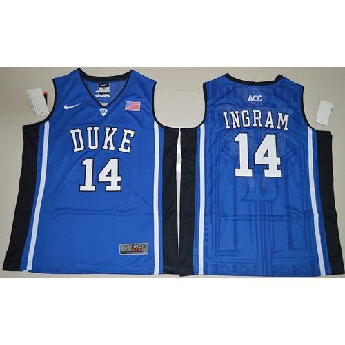 c450d2ca9 Duke Blue Devils  14 Brandon Ingram Royal Blue Basketball Elite V Neck  Stitched NCAA Jersey