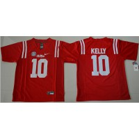 Durable Rebels #10 Chad Kelly Red Stitched NCAA Jersey