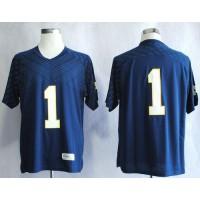 Fighting Irish #1 Louis Nix III Navy Blue Stitched NCAA Jersey