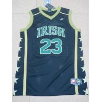 Fighting Irish #23 Lebron James Black Basketball Stitched NCAA Jersey