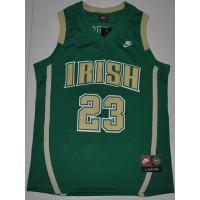 Fighting Irish #23 Lebron James Green Basketball Stitched NCAA Jersey