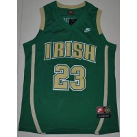 Fighting Irish #23 Lebron James Green Basketball Stitched NCAA Jersey