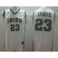 Fighting Irish #23 Lebron James White Basketball Stitched NCAA Jersey